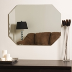 Octagon Shaped Frameless Wall Mirror