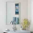 Zebra Frameless Bevel Wall Mirror