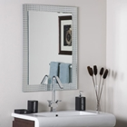 Disco Inferno Frameless Wall Mirror