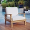 Bayport Outdoor Patio Armchair - Natural, White - EEI-2695-NAT-WHI