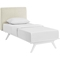 Tracy 2-Piece Twin Platform Bedroom Set - White Frame - EEI-5764-5240-WHI-BRS