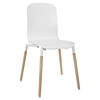 Stack Dining Wood Side Chair - White