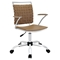 Fuse Leather Look Office Chair - Adjustable Height, Swivel, Armrest - EEI-1109