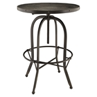 Sylvan Wood Top Bar Table - Round, Black