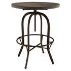 Sylvan Wood Top Bar Table - Round, Brown