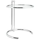 Eileen Gray Side Table with Tempered Glass Top