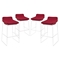 Garner Bar Stool - Metal Legs, Red (Set of 4) - EEI-1365-RED