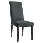 Parcel Fabric Side Chair - Nailhead, Gray