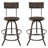 Procure Backrest Bar Stool - Black (Set of 2)
