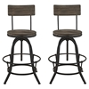 Procure Bar Stool - Wood Top, Brown (Set of 2)