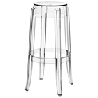 "Casper 30"" Backless Bar Stool - Clear Acrylic"