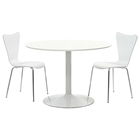 Revolve 3 Piece Round Dining Set - White