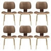 Fathom Dining Chairs - Wood, Walnut (Set of 6)