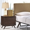 Tracy 2-Drawer Nightstand - Cappuccino - EEI-5240-CAP