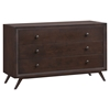 Tracy 3-Drawer Wood Dresser - Cappuccino