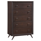 Tracy 5-Drawer Chest - Cappuccino