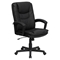 Leather Executive Swivel Office Chair - High Back, Black - FLSH-BT-2921-BK-GG