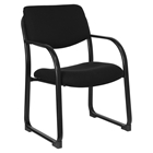 Fabric Executive Chair - Sled Base, Black