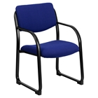 Fabric Executive Chair - Sled Base, Navy