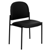 Stackable Side Chair - Black, Faux Leather