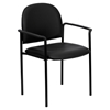 Stackable Armchair - Black, Faux Leather