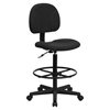 Fabric Drafting Chair - Black