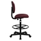 Fabric Drafting Chair - Burgundy - FLSH-BT-659-BY-GG