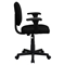 Fabric Swivel Task Chair - Low Back, Adjustable Arms, Black - FLSH-BT-660-1-BK-GG