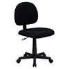 Fabric Swivel Task Chair - Low Back, Black