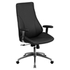 Executive Office Chair - High Back, Swivel, Height Adjustable, Black
