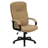 Fabric Executive Swivel Office Chair - High Back, Beige