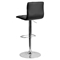 Faux Leather Barstool - Black, Button Tufted, Adjustable Height - FLSH-CH-112080-BK-GG