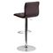 Faux Leather Barstool - Brown, Button Tufted, Adjustable Height - FLSH-CH-112080-BRN-GG