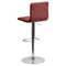 Adjustable Height Barstool - Burgundy, Tufted - FLSH-CH-112080-BURG-GG