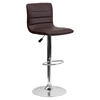 Adjustable Height Barstool - Faux Leather, Brown