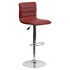 Adjustable Height Barstool - Faux Leather, Burgundy