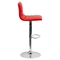 Adjustable Height Barstool - Faux Leather, Red - FLSH-CH-92023-1-RED-GG