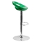 Plastic Adjustable Height Barstool - Backless, Green - FLSH-CH-TC3-1062-GN-GG