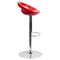 Plastic Adjustable Height Barstool - Backless, Red - FLSH-CH-TC3-1062-RED-GG