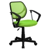 Swivel Task Chair - Low Back, Arms, Green
