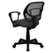 Swivel Task Chair - Low Back, Arms, Gray - FLSH-WA-3074-GY-A-GG