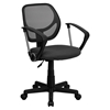 Swivel Task Chair - Low Back, Arms, Gray