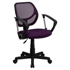 Swivel Task Chair - Low Back, Arms, Purple