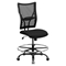 Hercules Series Big and Tall Drafting Chair - Black - FLSH-WL-5029SYG-D-GG