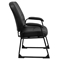 Hercules Series Big and Tall Executive Side Chair - Sled Base, Black - FLSH-WL-738AV-LEA-GG