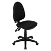 Mid Back Task Chair - Multi Functional, Adjustable Lumbar Support, Black