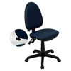 Mid Back Task Chair - Multi Functional, Adjustable Lumbar Support, Navy