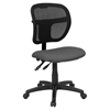 Mid Back Mesh Task Chair - Swivel, Gray Padded Seat