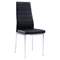 Karina Dining Chair - Chrome Legs, Black - GLO-D140DC-M