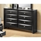 Linda Bedroom Set in Black - GLO-LINDA-FD0011B-BL-M-SET